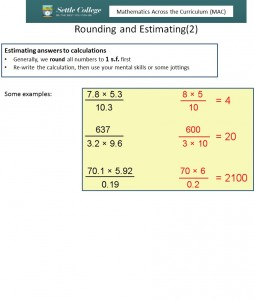 Rounding and Estimating 2