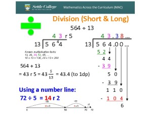 Short and Long Division