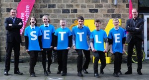Thumbnail for Settle College students at the Tour De Yorkshire launch yesterday. htt