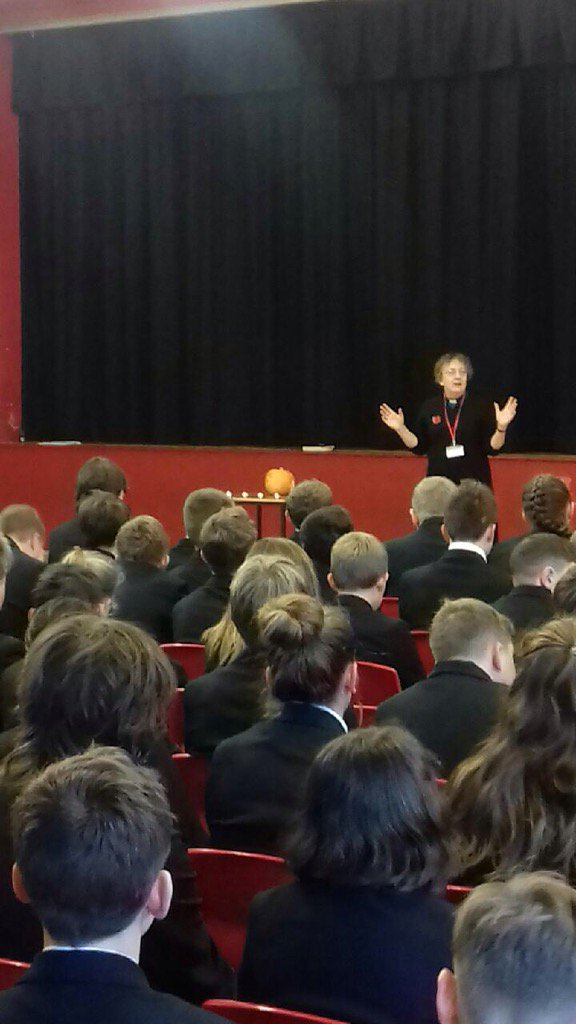 Thumbnail for Year 7 and 8 assembly with Reverend Hilary discussing Diwali. https://