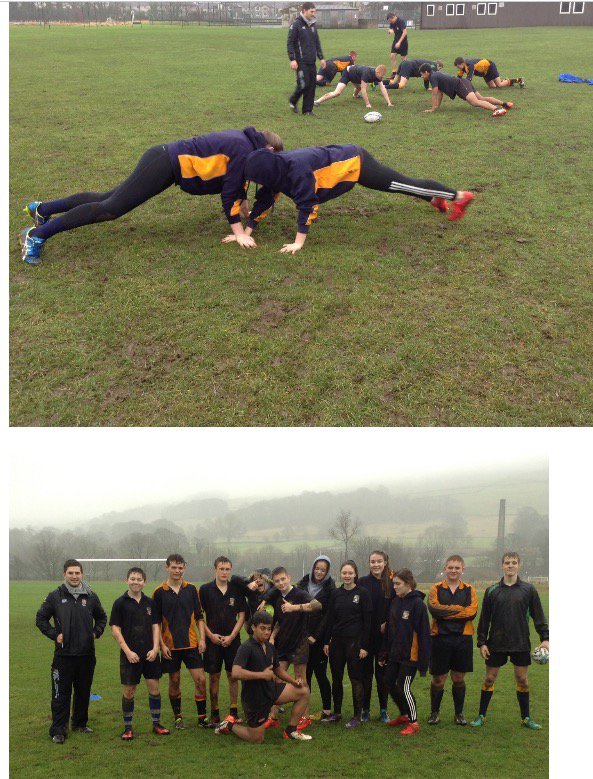 Thumbnail for 13 students took part in a Rugby Ready course at Settle College. The c