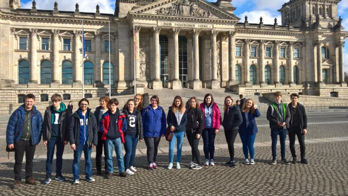 Thumbnail for Settle College Sixth Form students at Brandenburg Gate and Reichstag t