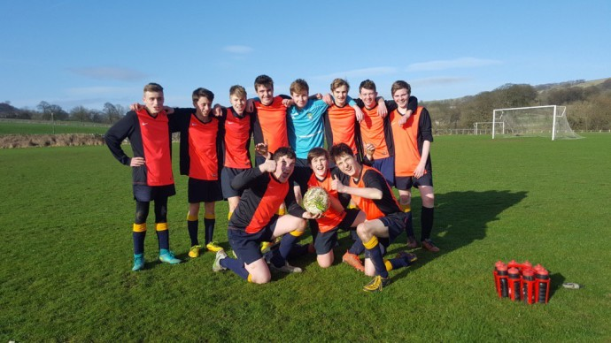 Year 10 boys' football  Finally nice weather for a fixture! https